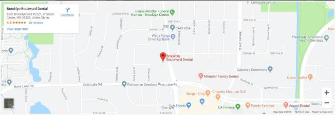 map Dentist near me Brooklyn BLVD Dental